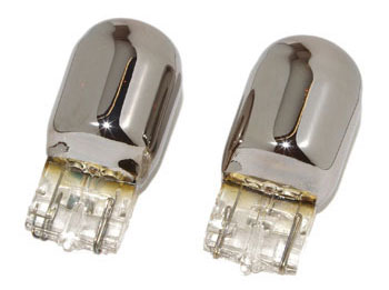 Chrome Bulbs for Turn Signals (7440)
